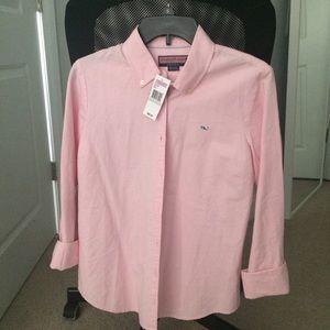 Pink Vineyard Vines Button down blouse